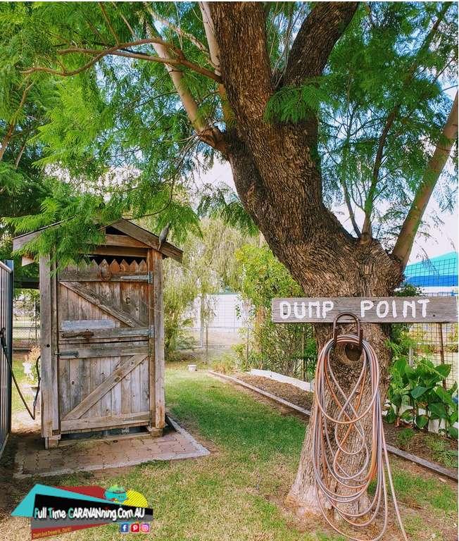 Gulargambone  caravan park dump point outback toilet