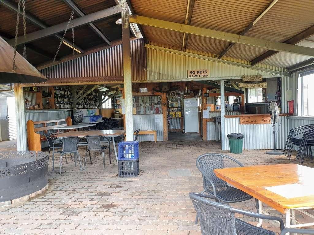 Gulargambone Caravan Park NSW camp kitchen