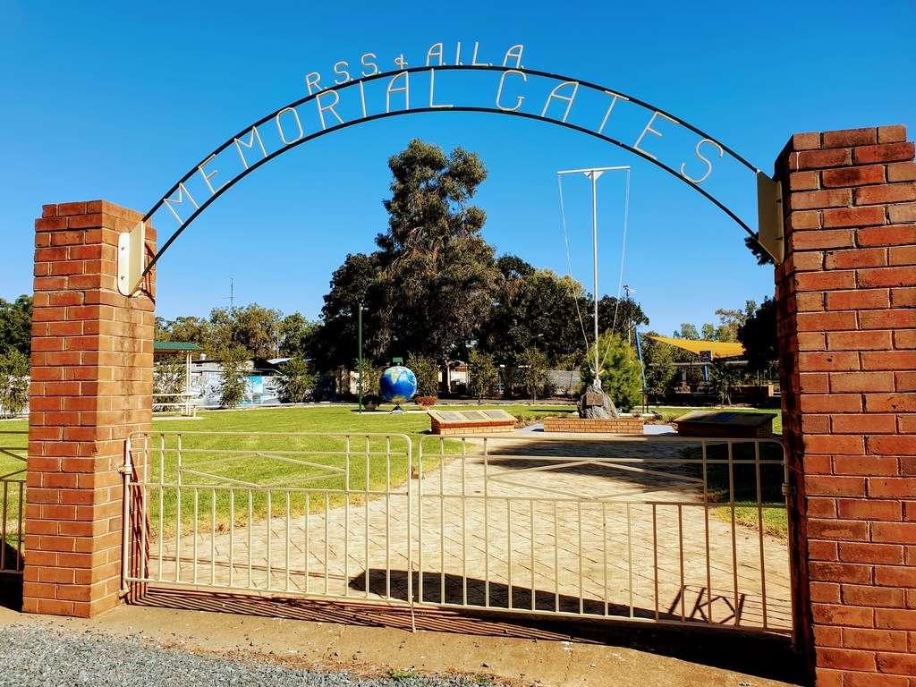 Ungarie Showground  NSW war art gate