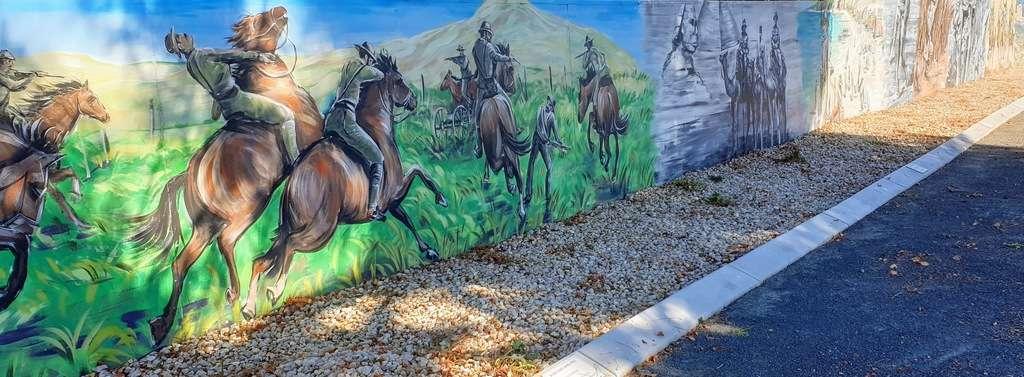 Ungarie Showground NSW war art