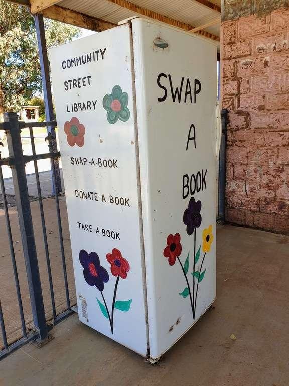 Ungarie book exchange fridge