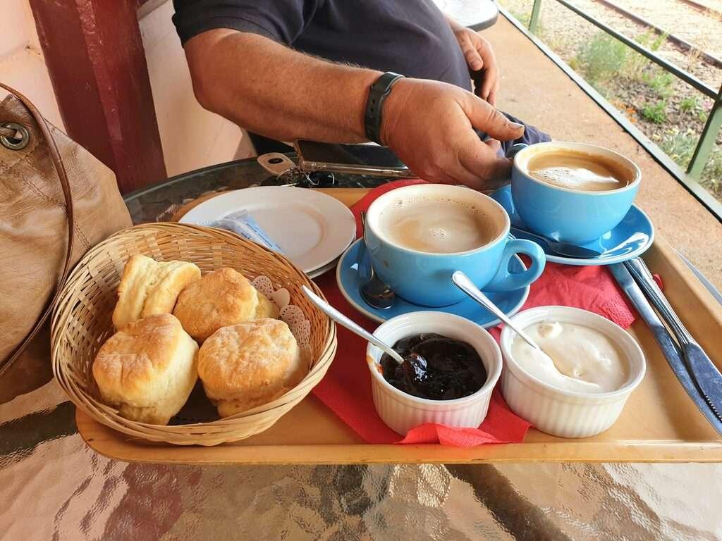 Whistle Stop Train Cafe Devonshire Tea