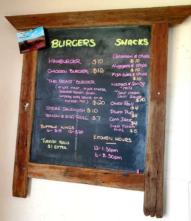 Hermidale Hotel meal menu