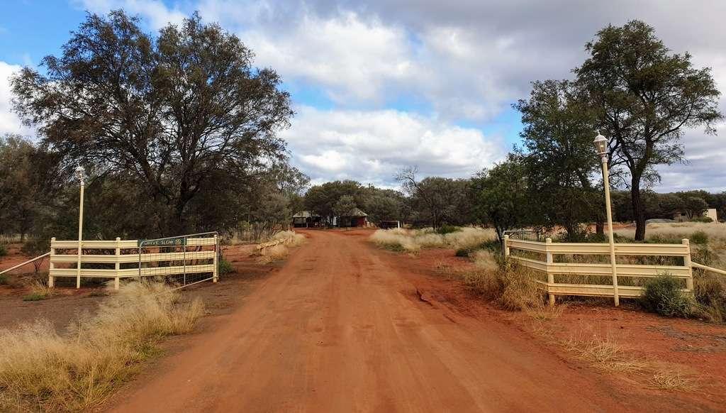 Entrance to Mulga creek hotel pub camping caravan park new south wales nsw