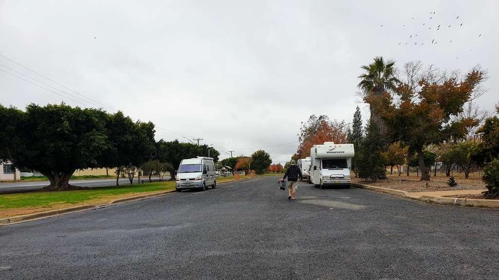 Nyngan Free Camp NSW caravans