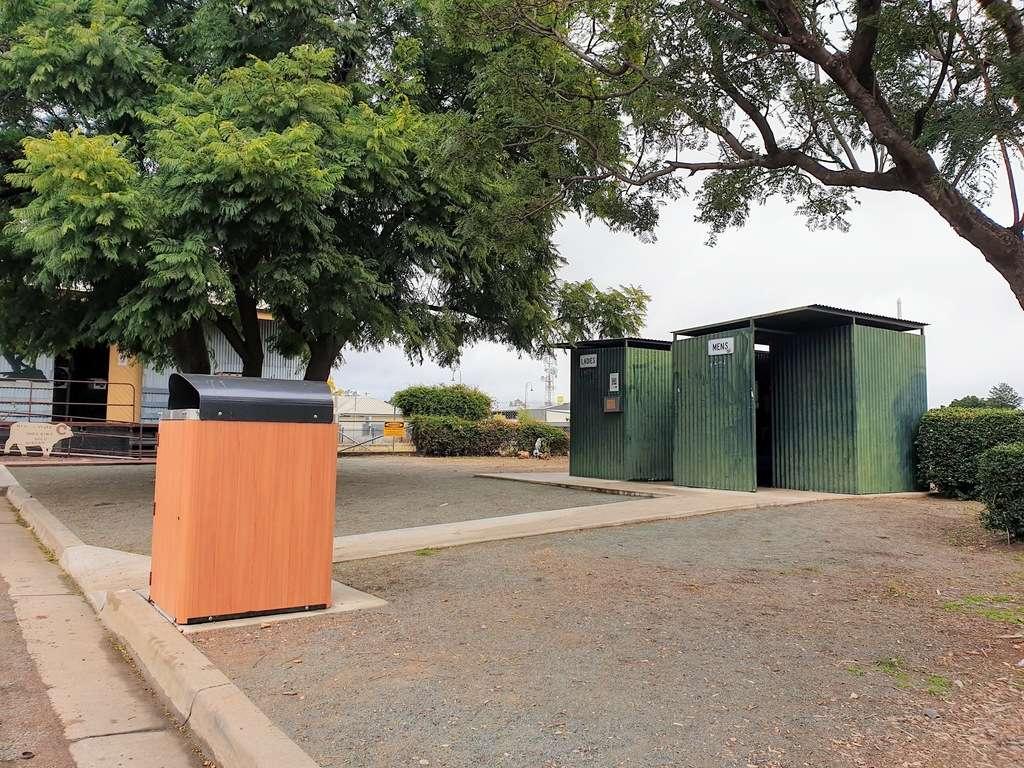 Toilets and bin